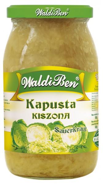 Eingelegtes Sauerkraut nach polnischer Rezeptur, 900 ml / 8 Stk/Kart