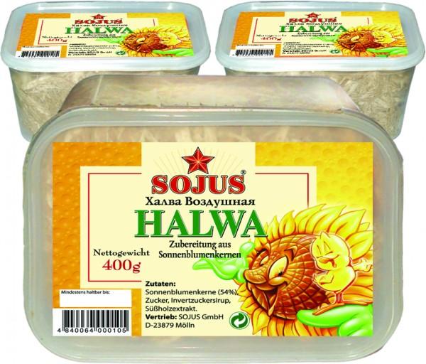 Halva, Zubereitung aus Sonnenblumenkernen